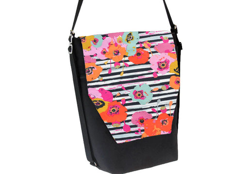 Convertible Backpack Bag -  Floral Notes Fabric