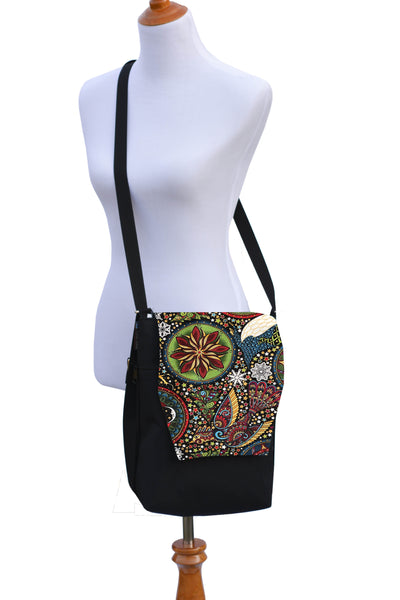 Convertible Backpack Bag -  Celestial Winter Fabric