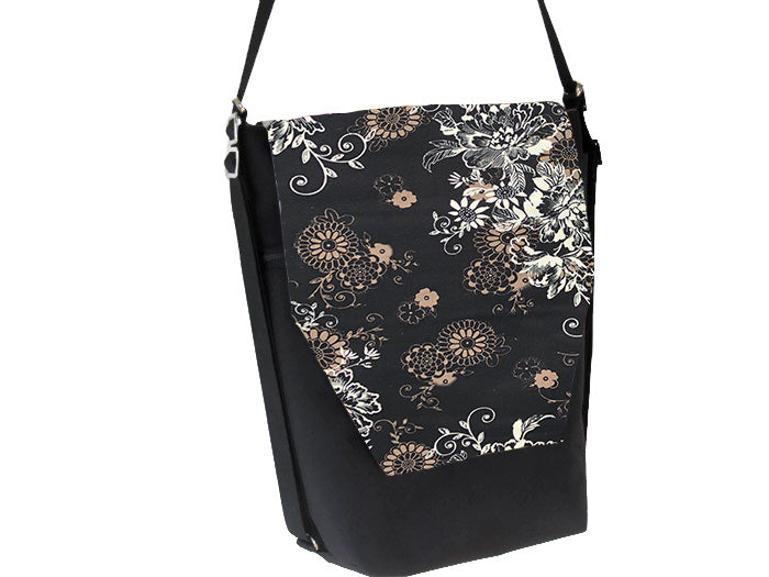 Convertible Backpack Bag -  Black Beauty Fabric