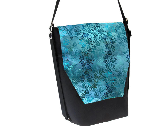 Convertible Backpack Bag -  Bloomin Teal Fabric
