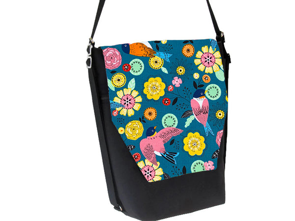 Convertible Backpack Bag -  Garden Party Fabric