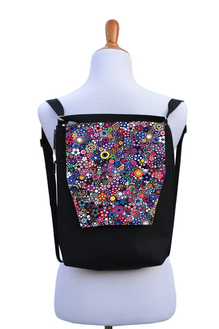 Convertible Backpack Bag -  Glorious Dot Fabric