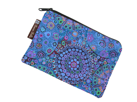 Catch All Zippered Pouch - Murano Glass Fabric