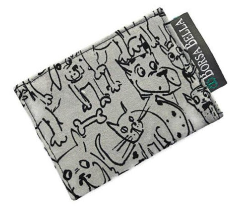 Card Holder RFID Protected -   Puppy Party Fabric