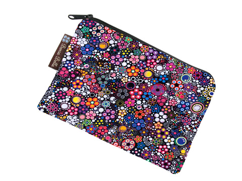 Catch All Zippered Pouch - Glorious Dots Fabric