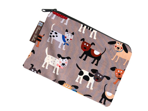 Catch All Zippered Pouch - Dog Gone Delightful Fabric