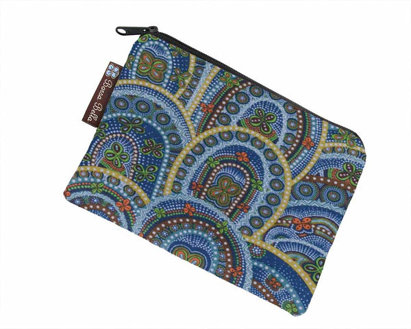 Catch All Zippered Pouch - Butterfly Rebirth Fabric