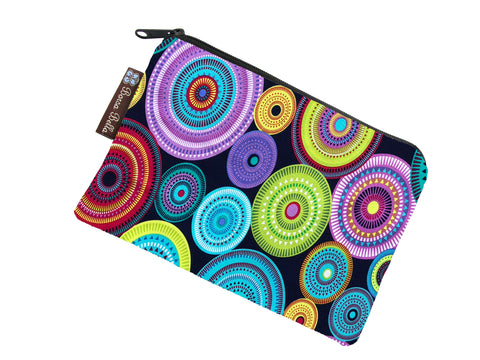 Catch All Zippered Pouch - Northern Lights Fabric