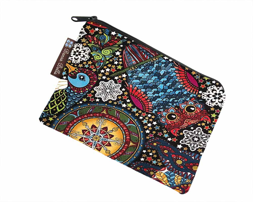 Catch All Zippered Pouch -Graphite Greatness Fabric