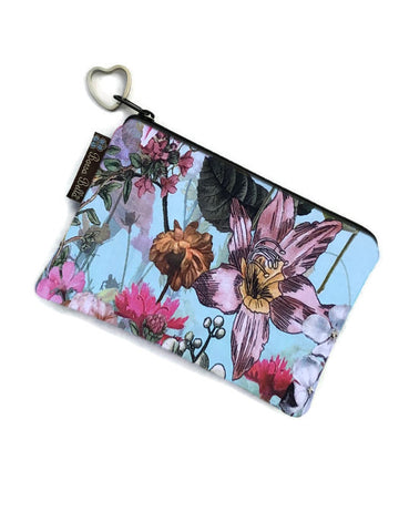 Catch All Zippered Pouch - Wild Flowers Fabric