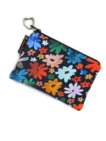 Catch All Zippered Pouch - Wild Daisy Fabric