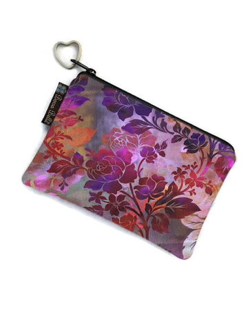 Catch All Zippered Pouch - Rose Garden Fabric