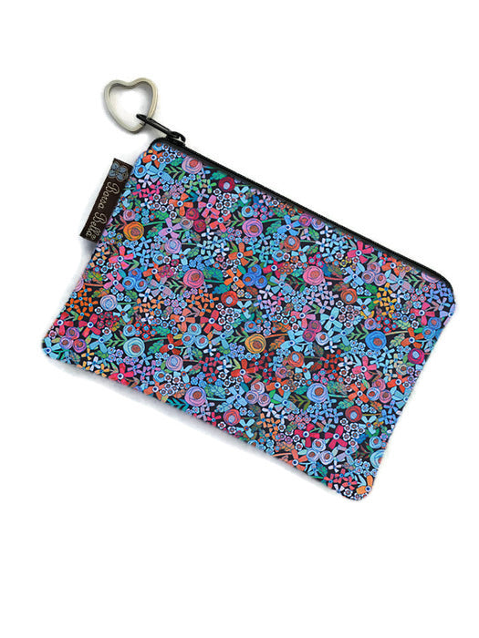 Catch All Zippered Pouch - Mini Wild Flowers Fabric
