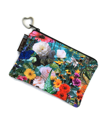Catch All Zippered Pouch - Cottage Garden Fabric
