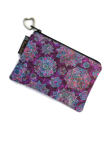 Catch All Zippered Pouch - Blissful Garden Fabric
