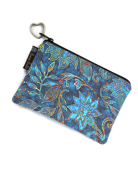 Catch All Zippered Pouch - Electric Blue Fabric