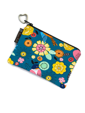 Catch All Zippered Pouch - Garden Party Fabric