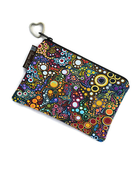 Catch All Zippered Pouch - Happy Dots Fabric