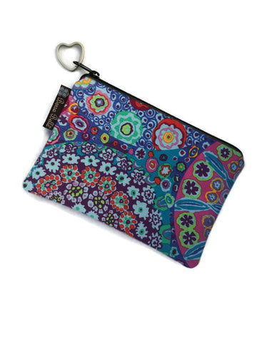 Catch All Zippered Pouch - Flower Scope... Fabric