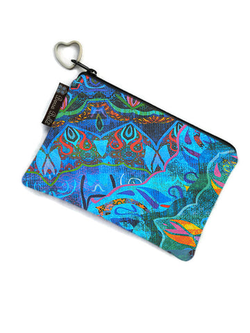 Catch All Zippered Pouch - Ombre Blue Fabric