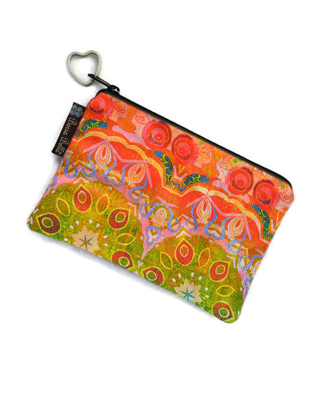 Catch All Zippered Pouch - Ombre Yellow/Orange Fabric