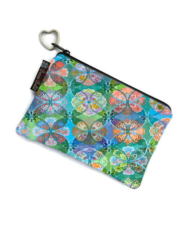 Catch All Zippered Pouch - Pastel Perfect Fabric