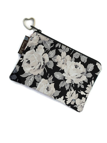 Catch All Zippered Pouch - Sugar Rose Fabric