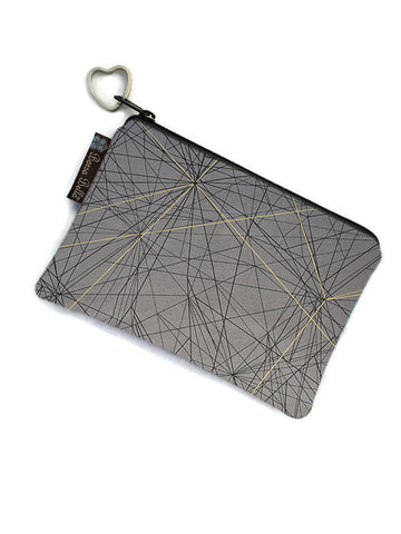 Catch All Zippered Pouch -Tight Rope Fabric