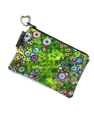 Catch All Zippered Pouch - Verde Fabric