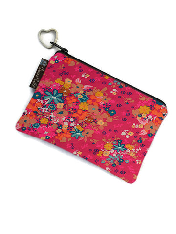 Catch All Zippered Pouch - Winter Pink Fabric