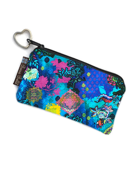 Catch All Zippered Pouch - Bella Blue Fabric