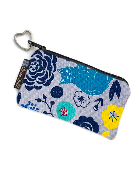 Catch All Zippered Pouch - Daisy Kitty Fabric