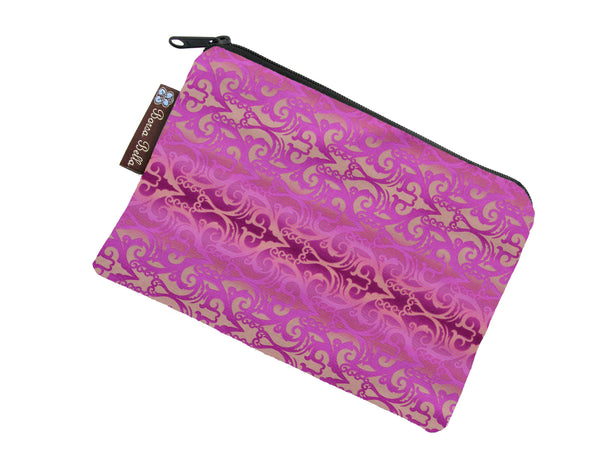Catch All Zippered Pouch - Pretty in Pink Fabric