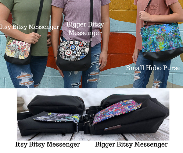 Itsy Bitsy/Bigger Bitsy Messenger Purse - 3 Wishes Fabric