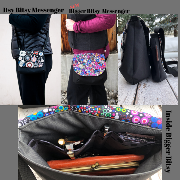 Itsy Bitsy/Bigger Bitsy Messenger Purse - Murano Glass Fabric