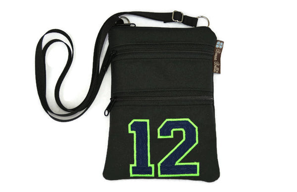 Ella Bella Purse Small Cross Body Purse - 12th Fan Seahawks - Dark Blue 12