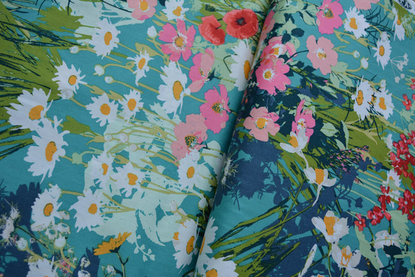 Convertible Backpack Flaps -  I come to the garden... Fabric