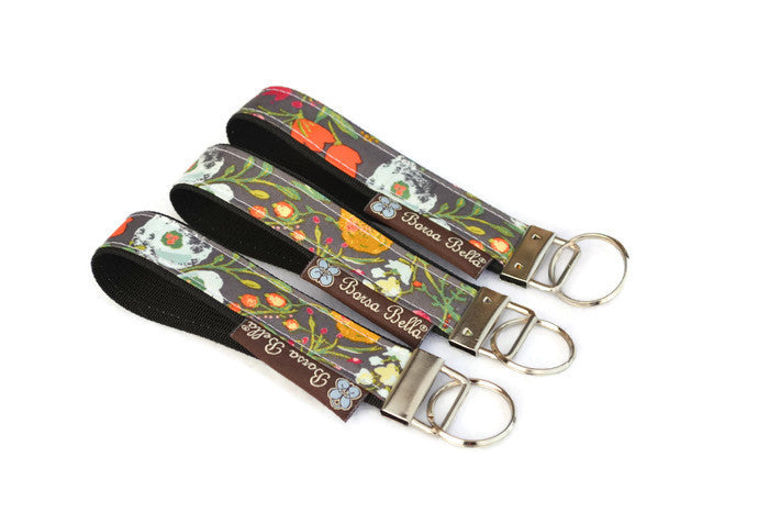 Keychain Wristlets -  Love Blooms Fabric