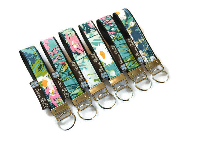 Keychain Wristlets -   I come to the garden... Fabric