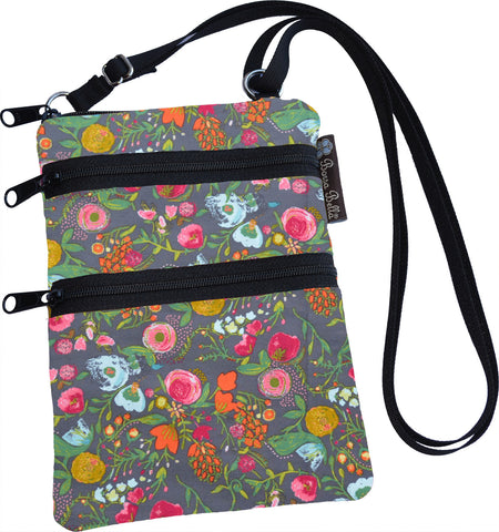 Ella Bella Purse Small Cross Body Purse - Love Blooms Fabric