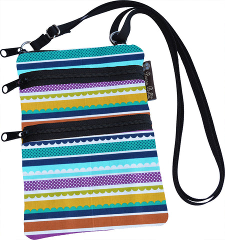 Ella Bella Purse Small Cross Body Purse - Washi Waves Fabric