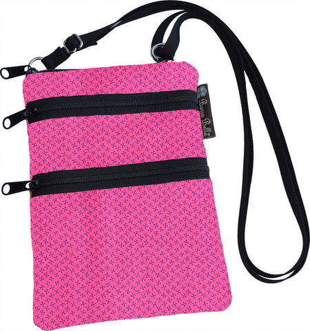 Ella Bella Purse Small Cross Body Purse - Pink Jacks Fabric