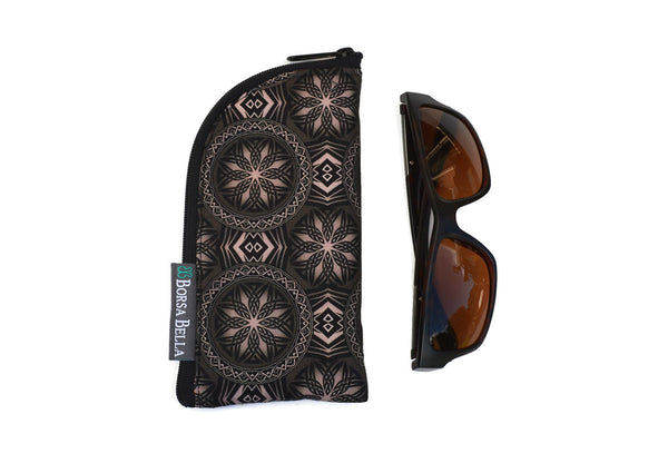 Sunglass Cases - Bronze and Black Fabric