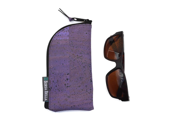 Sunglass Cases - Purple Cork Fabric