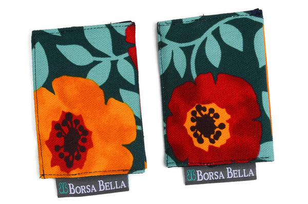 Card Holder RFID Protected -  Poppy Love Canvas Fabric