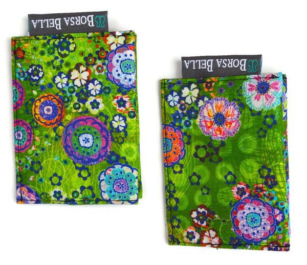 Card Holder RFID Protected - Verde Fabric
