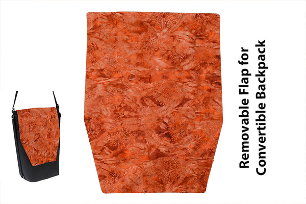 Convertible Backpack Flaps -Marmalade Fabric