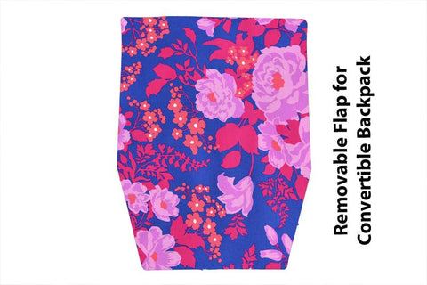Convertible Backpack Flaps -   Orchid Fabric