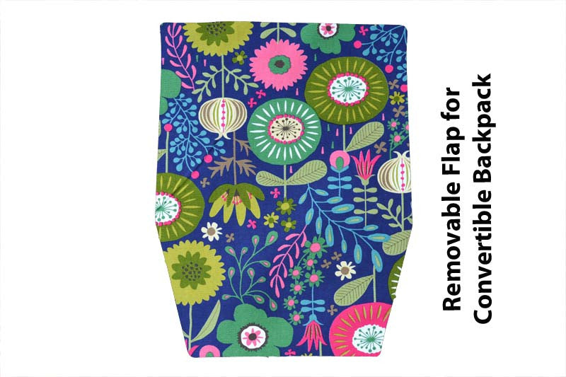 Convertible Backpack Flaps - Garden Variety Fabric