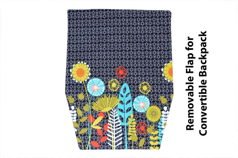Convertible Backpack Flaps -  Botany Fabric